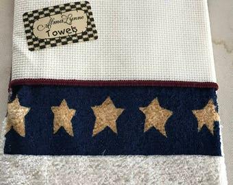 Americana Towels for Cross Stitch designed by Alma Lynn
