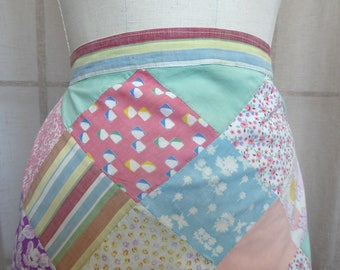 vintage Cotton Patchwork Half Apron