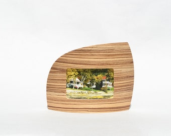 """Landscape Picture frame in Zebrawood for 4"""" x 6"""" picture"""