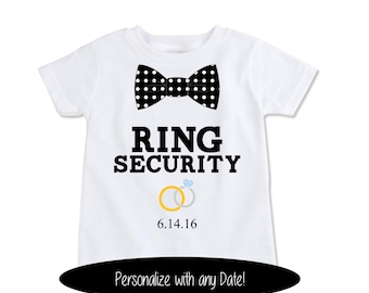 Ring Security Gift Set Ring Bearer Shirt Ring Security