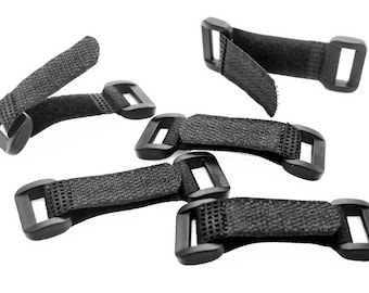 Adjustable Strap Hook and Loop Buckle Closures - Perfect Alternative to Side Release Buckles for Paracord Bracelets