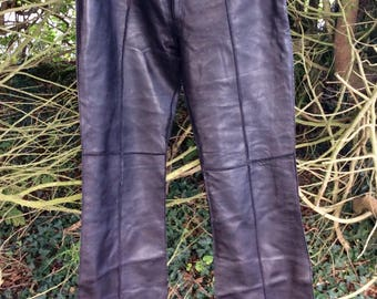 Beautiful buttery soft black leather pants / trousers by Pellesimo