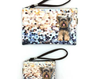 YORKSHIRE TERRIER, Yorkie Dog! Pouche & Coin Purse, Dog Lovers, Wristlet Pouch