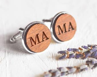 Personalised Engraved Initial Cufflinks, Monogram Cufflinks, Gifts for Groomsmen, Wedding Cufflinks, Custom Cufflinks, Letter Cufflinks