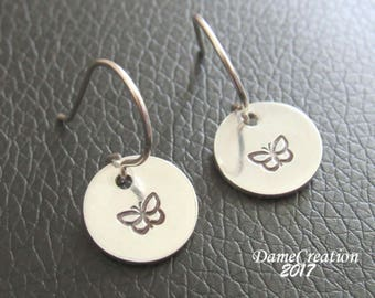 Butterfly Silver Earrings, Butterfly Jewelry for Girls, Little Girl Earrings Sterling, Butterfly Earrings Sterling Silver