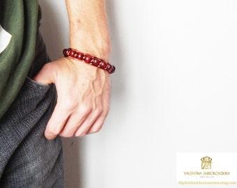 Wood beads bracelet. Mens gift, wood bead bracelet, beaded, mens jewellery, rosewood bracelet, mens wooden bracelet