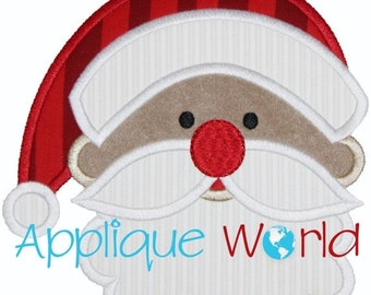 Santa Claus Applique Embroidery-Instant Digital Download Design-Machine Applique Embroidery -Kid Applique Pattern. Christmas Applique.