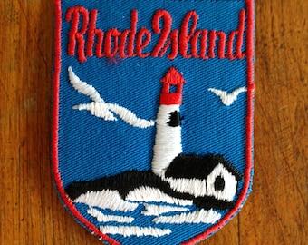Rhode Island Vintage Travel Patch