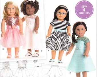 """Simplicity 8039 or 172  18"""" Doll Clothes Sewing Pattern NEW UNCUT"""