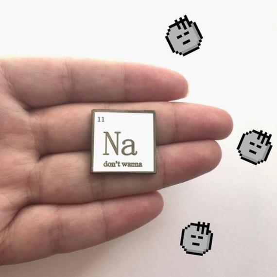 Na Dont Wanna Periodic Symbol Pin Science Pin