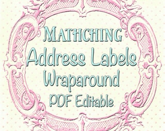 Matching PDF Editable Matching Address Labels - made to match your invitation