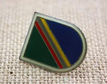 Shield - Enamel Pin by American Gag Bag Inc. - Vintage Novelty Pin c. 1980s