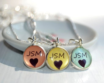 3 friendship  necklaces, 3 best friends, personalized