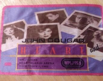 Heart and John Cougar 1982 Rocktober WPLJ 95.5 New York New Jersey Backstage Pass Rock Tour