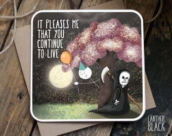 Funny Birthday card / Funny card / Funny friend card / Best friend birthday / Sarcastic birthday card / Grim Reaper / SM59