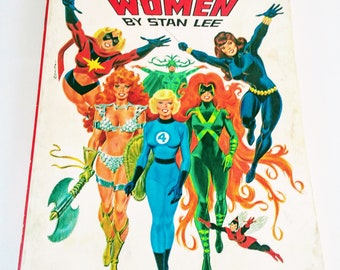 THE SUPERHERO WOMEN by Stan Lee 1977 1st edition, Trade Paperback