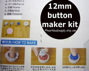 """Cover Button maker Kit - 12mm wireloop back 