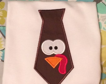 Turkey Tie Thanksgiving Shirt