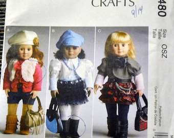 Sewing Pattern McCall's 6480 Clothes for 18 inch Doll American Girl  Complete Uncut