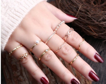 10pc Midi Ring Set **Free Shipping**