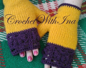 READY TO SHIP/Warm fingerless gloves/Colorfull gloves/Stylish driving gloves/Handknit armwarmers/Attractive mitts/ръкавици/pumpkin pie