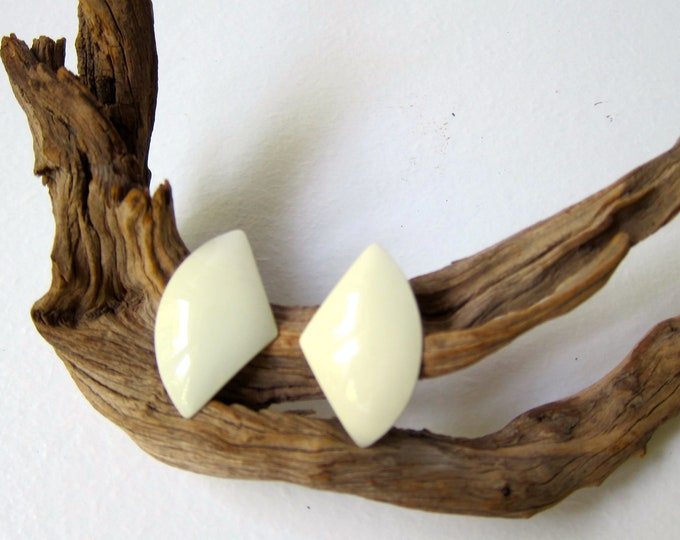 Cream Winged Earrings