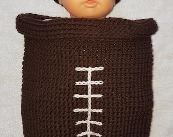 Football Newborn Cocoon