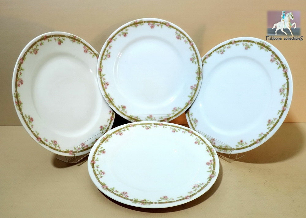 Limoges Theodore Haviland Antique Salad Plates 4 pc Set 1903