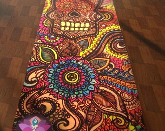 La Calavera Skull Yoga Mat