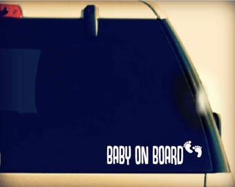 Baby on Board Decal, Baby on Board Car Decal, Baby On Board Sticker, Baby on Board vinyl car sticker, Baby on Board Vinyl, Baby on Board