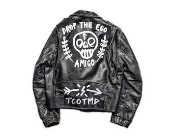 Drop The Ego Custom Leather Jacket