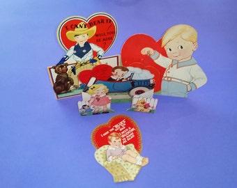 Vintage 1930s Valentine's Day Cards - Set of 4 - 003