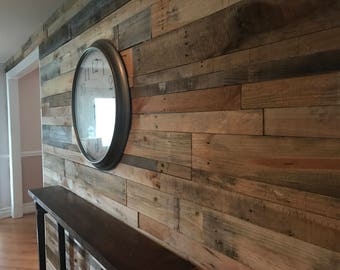 Reclaimed pallet wood wall backsplash pallet planks pallet craft projects 25 pieces