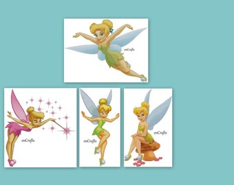 Tinkerbell 4 Cross Stitch Patterns