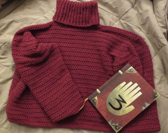 GRAVITY FALLS Ford inspired red/maroon sweater