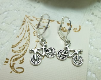 Bicycle Earrings Tibetan Silver Bicycle Earrings Bike Lover Earrings Bike Jewelry Bicycle Gift