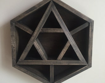 Sacred Geometry Triangle Shelf for Crystal Display