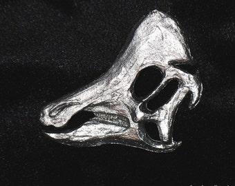 Pewter Dinosaur Pin - Hypacrosaurus