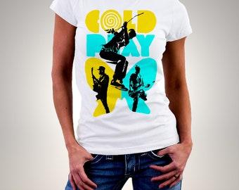Coldplay Paradise White Woman Printed T-shirt