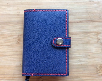 Handmade and reusable leather A7 Diary cover complete with Ryman 2018 page a day Diary