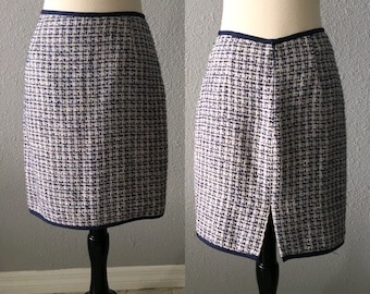 1990's Tweed Mini Skirt Vintage Clueless 90's Tweed Skirt by Georgiou Studio