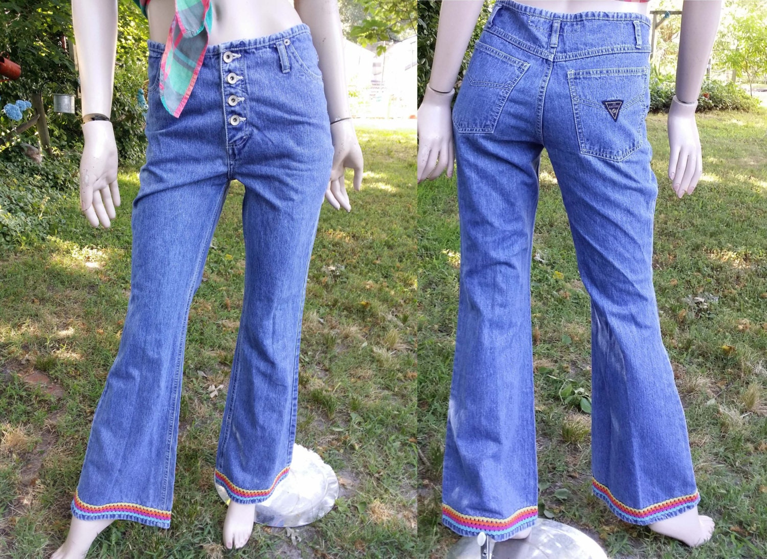 Well-liked Womens Jeans 80s Jeans Vintage Jeans Bell Bottom Jeans HS97
