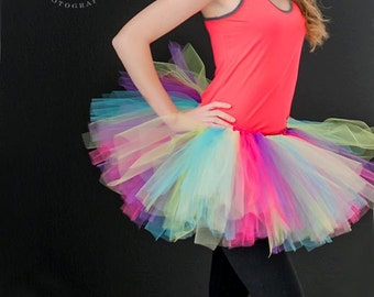 Running Tutu - Race Tutu -Halloween tutu- Adult Tutu - Rainbow Tutu- Color Run Tutu -  Marathon Tutu - 5K Tutu - Foam Dance - Fun Run Tutu -