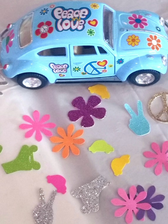 1960u0027s Volkswagen Buggy Beetle / Bus Model Car For Cake Centerpiece Toppers  Table Decoration Birthday Party Favor Retirement 60u0027s Love Peace
