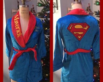 Boys DC Comics Clark Kent Superman Robe - Personalized Monogrammed