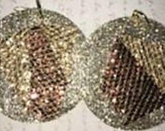 Gold & Copper Shimmer Reversible CUSTOM EARRINGS