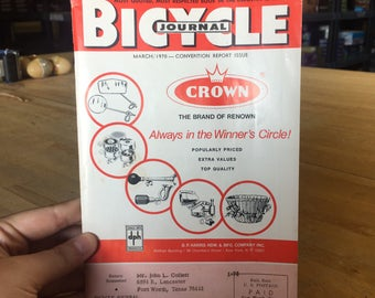 Fort Worth TX Crown Bicycle Journal 1970 - Convention Report Issue