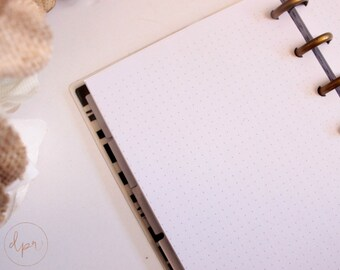 Discbound Mini Happy Planner : Dot Grid | PRINTED Planner Inserts | DreamPlanRepeat