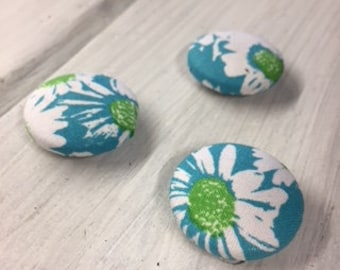 Fabric Button Magnets - 1 Inch