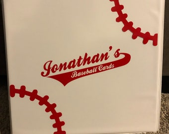 Personalized Baseball Card Collection Binders